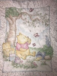 Vintage Disney Winnie The Pooh Baby Blanket 1994 CLASSIC POOH - Free Shipping