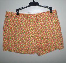 LAND'S END spandex short shorts size 10 citrus sexy fruit Oranges & Lemons OG