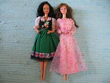 Poupées Barbie Vintage 80er Années Steffie Face Hispanic roses PJ