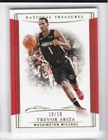 2018-19 Trevor Ariza #10/10 Panini National Treasures Wizards
