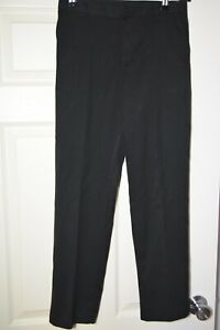 1 Pair Black School Trousers Regular Fit Elasticated Waist Size 12-13 Yrs