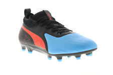 Puma One 19.2 FG AG 10548401 Mens Black Low Top Athletic Soccer Cleats Shoes