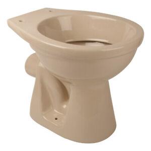 Stand-WC Tiefspüler Abgang Wand Waagerecht Toilette WC Bahama Beige