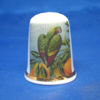 Birchcroft China Thimble Parrot Brand Oranges Free Box Fruit Label