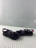 Chaco ZX/2 Classic Pink/Blue/Black Textile Strappy Sport Sandals Women's Size 8