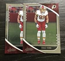 New listing Chase Young Rookie Card Lot (2) | 2020 Panini Absolute Football | Washington