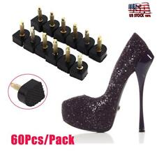 60Pcs Ladies Shoes Repair High Heel Tips Tap Stiletto Replacement 5 Sizes Pin