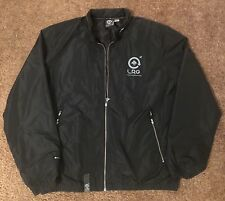 L-R-G Lifted Research Group Windbreaker Jacket Black Size Large