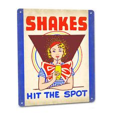 MILK SHAKE Soda SIGN Vintage Malt Mixer 4 Diner Cafe Drive In Burger Joint Shop