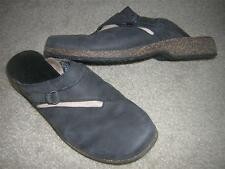 "TEVA Women's ""Ventura"" Leather Mule Clog Shoes w/Buckle Black Women's Sz 7"