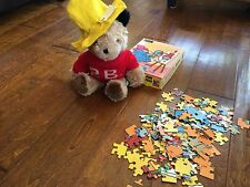vintage Paddington Bear 1981 Red Pb Sweater Yellow Hat England w/ 1989 puzzle