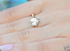1.80 CT Heart Shaped Cut Solitaire LOVE Engagement Ring Solid 14k Yellow Gold