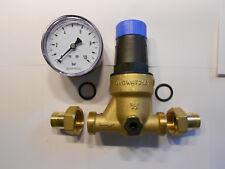 1/2 Zoll Druckminderer Watts incl. Manometer Gewindeverschraubung