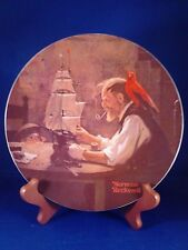 "Norman Rockwell "" the ship builder "" Knowles Collectible China 8.5"" plate used"
