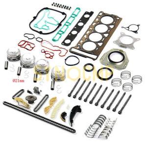 Engine Pistons Overhaul Rebuild Kit For VW Audi Skoda 1.8 TSI BZB CDA CDH Ø21mm