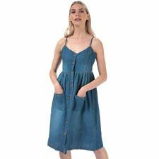 Women's Jacqueline de Yong Saint Life Button Sleeveless Midi Dress in Blue