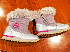 DKNY Toddler Girls Boots silver Gray pink Size 6