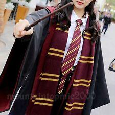 Harry Potter Robe Gryffondor Hufflepuff Slytherin Ravenclaw Cape + Tie + Écharpe