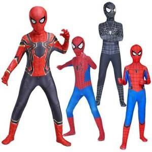 Kids Boys Spiderman Superhero Jumpsuit Cosplay Costume Fancy Dress Up Outfits