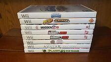 Wii 8 game lot - Madden, MLB, Skylanders, Avatar, NERF, Planet 51, Hoops