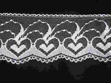 10 yd Scalloped Insert trim lace bridal fabric embellishment 65mm hearts design