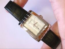 NICE Boucheron Reflet Parallele Automatic Swiss Date Wrist Watch. Leather Band.