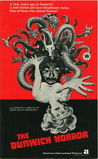 H.P. LOVECRAFT •  THE DUNWICH HORROR Pressbook • 1970 • 20 pgs • Uncut • AIP