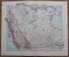 West-Canada - alte Landkarte aus 1906 Nordamerika Stielers Handatlas old map