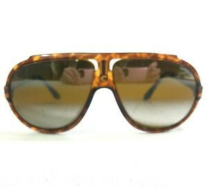 Vintage Carrera Sunglasses MOD.5512 12 Brown Tortoise Aviators w/ Brown Mirror