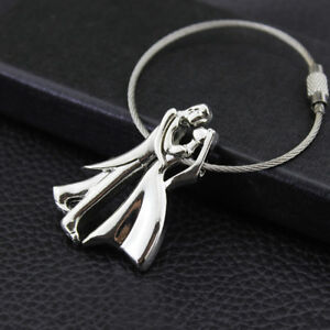 Fashion Couples Wire Rope Key Chain Key Ring Keychain Pendant Wedding Gift