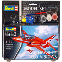 Revell BAe Hawk T.1 Red Arrows Model Set (Level 3) (Scale 1:72) NEW