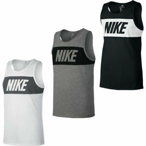 Nike Vest Tank Retro Big Logo Sports Gym Sleeveless Tank Top Size S M L XL