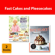 Cake Recipes 2 Books Collection Set Pleesecakes and Fast Cakes Easy Bakes in Min