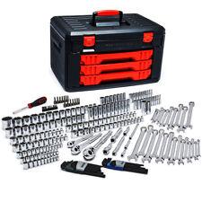 "GearWrench 80942 239 Pc 1/4""-3/8""-1/2"" Dr 6&12 Pt SAE-Metric Mechanics Tool Set"