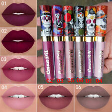 CmaaDu Sexy Skull Gold Metal Matte  Waterproof Liquid Lipstick Lip Gloss