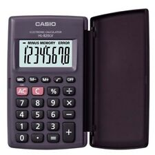 Casio POCKET Electronic Calculator HL-820LV-BK Large Display 8-Digit LCD BLACK