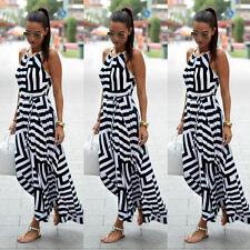 AU Women Summer Sleeveless Maxi Long Dress Ladies Evening Cocktail Party Beach