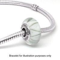 I Love You Charm Bracelet Bead 925 Silver White Murano Mum Wife Daughter
