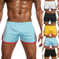 Men's Boy New Nylon Mesh Sports Flat-Angle Track And Field Trousers Shorts Pant