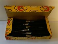 NOS Crescent Bridgeport Box of 6 Electricians Type Screwdrivers And Box; #1
