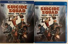 DC COMICS SUICIDE SQUAD HELL TO PAY BLU RAY DVD 2 DISC SET + SLIPCOVER SLEEVE