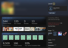 STEAM ACCOUNT | 544 GAMES | VALUED $937 - $3986