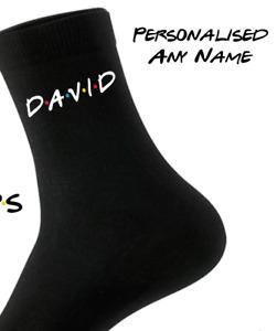 Friends TV Show Inspired Men's Socks - Any Name - Personalised Gift