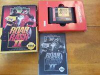ROAD RASH II 2 Sega Genesis - Complete in Box CIB & Manual, Tested & Working!