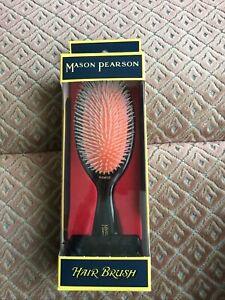 MASON PEARSON NG2 Medium Gentle Nylon Brush Dark Ruby Boxed New