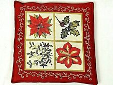 """Alice's Home & Cottage Spiced Hot Pad Winter Christmas Holiday Floral 9.5"""""""