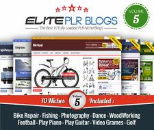 Instant Niche Plr Wordpress Blogs Volume 5 10 Fully Loaded Blogs