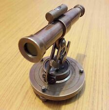BRASS ALIDADE TELESCOPE WITH COMPASS NAUTICAL MARINE GIFT