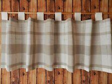Scheibengardine/Bistro Schlaufen - Naturtöne - dichtes undurchlässiges Gewebe