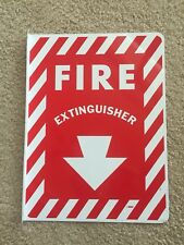"8"" x 12"" 90 Degree Fire Extinguisher Arrow Sign Aluminum (double sided)"